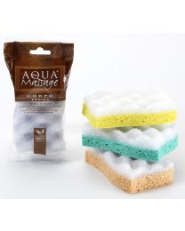 TONICA natural cellulose sponge with massage cell-like foam side