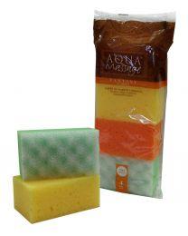 FAMILY bath&massage sponges